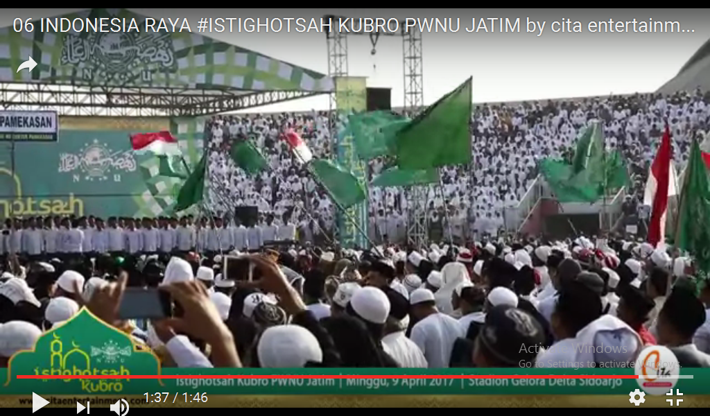 Indonesia Raya dalam Istighotsah Kubro