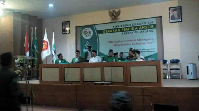 Yakikan Peserta Konferensi, Khusnul Hakim Syadat Pimpin Ansor Malang