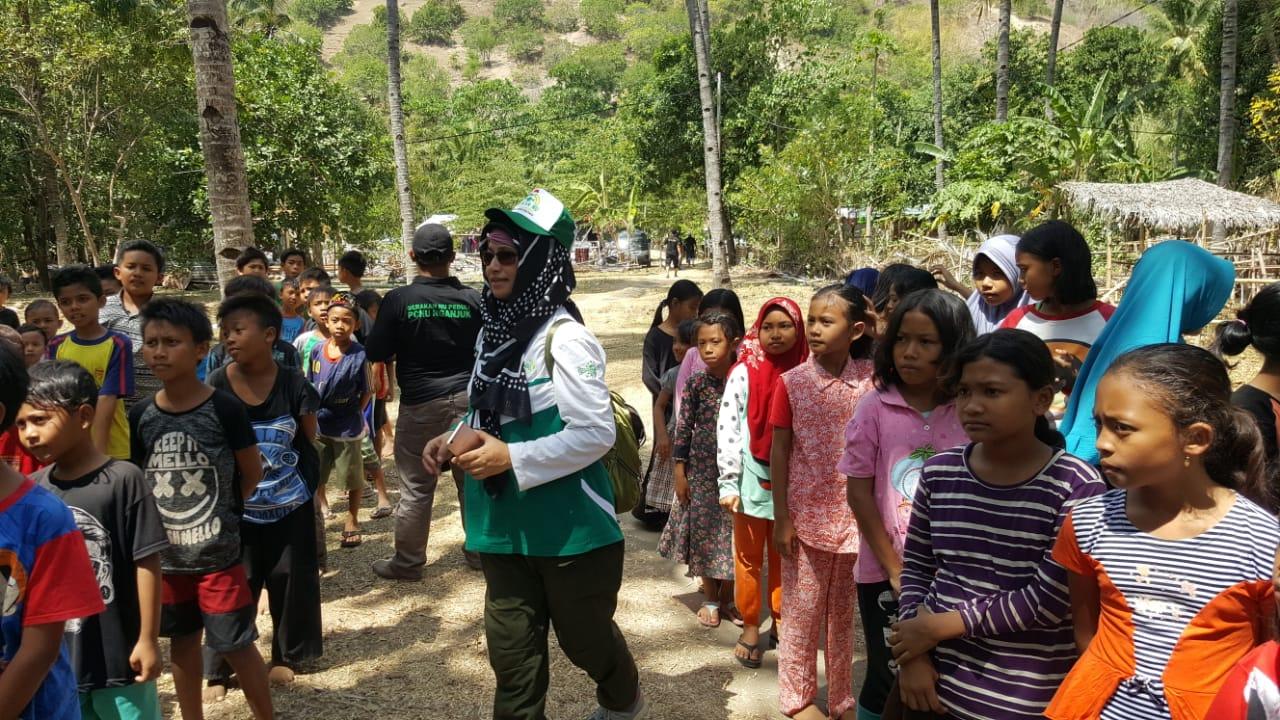 Aksi Bersama NU JATIM Salurkan Bantuan ke 16 Desa di Lombok
