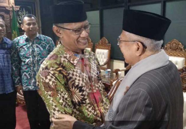 Silaturahim ke Muhammadiyah, KH Ma'ruf Amin Disambut Hangat