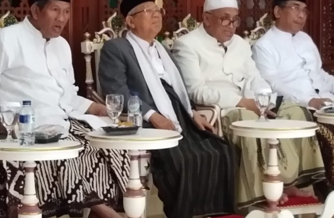 KH Ma'ruf Amin menghadiri Tasyakuran Ulama di Yogya