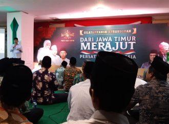 Silaturahmi di PWNU Jatim, Kiai Ma'ruf Amin Bersyukur Pemilu Berjalan Damai