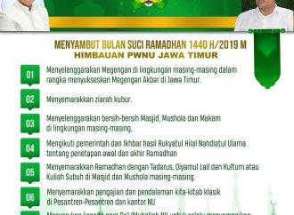 Sambut Ramadhan 1440 H, Ini Imbauan Penting PWNU Jawa Timur