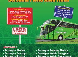 Mudik Gratis PWNU Jawa Timur, Daftarkan Segera!