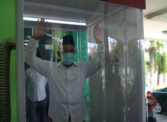 Tolak Virus Corona, Dua Bilik Sterilisasi Terpasang di Kantor PWNU Jatim