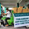 Usai Lebaran, LazisNU Jatim Lanjut Bagikan Pangan untuk Yatim dan Dhuafa