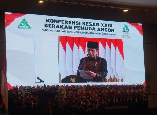 Buka Konbes GP Ansor, Presiden Anjurkan Beli Produk Lokal