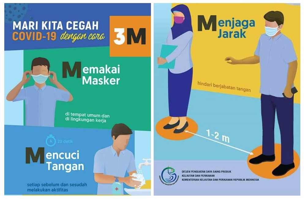 disiplin memakai masker, menjaga jarak dan selalu cuci tangan